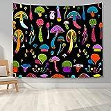 KHKJ Tapiz de Graffiti de Dibujos Animados Abstracto Tapiz Colgante de Pared Manta Dormitorio Psicodélico Seta mágica Tapices de alucinación A6 200x180cm