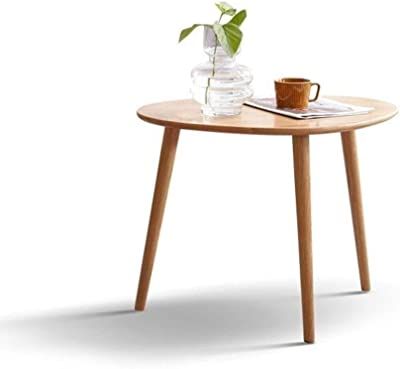Coffee Table,Solid Wood Table,Round Table Living Room Side Table,Multifunctional Living Room Geometric Coffee Table,Decorative Living Room Side Table,Log Color Large