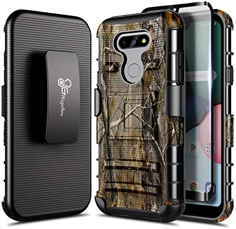 E Began Case Compatible for LG Phoenix 5 with Tempered Glass Screen Protector Belt Clip Holster product image