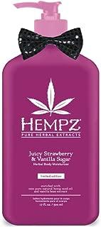 Hempz Juicy Strawberry & Vanilla Sugar Moisturizer 17 Ounce