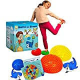 TedyFredy Sharks and Stones Sensory Stepping Stones Game for Toddlers-Indoor Obstacle Course for Kids, Balance Pods for Gross Motor issues,Balancing stones ,Sensory Toy for kids 5-7