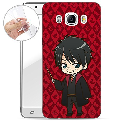 Finoo Harry Potter ANIME SERIE SILICONE SAMSUNG GALAXY J3/J5 2016 - Harry Rosso, Samsung Galaxy J5 (2016)