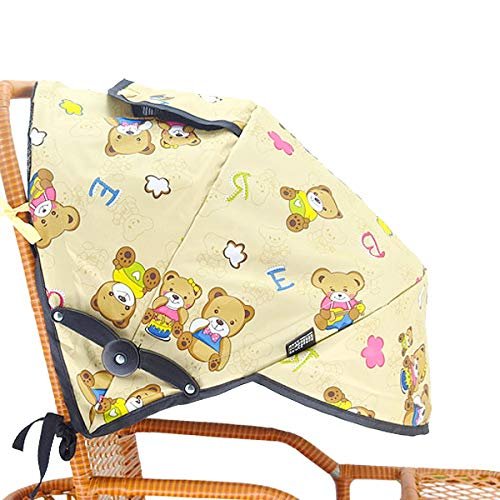 Toldo Silla de Paseo,Qiundar Parasol Silla Paseo Bebe Universal Toldo Cochecito Bebe Sombrilla Protección,con Ventana de Observación y Bolsa de Malla