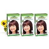 Corpore Sano Pack x3 Unidades Tinte Caoba 5.5 Permanente 140ml - Tinte de coloración sin amoníaco, resorcinol ni parabenos. Los champús naturales de Henna poténcia la durabilidad del color