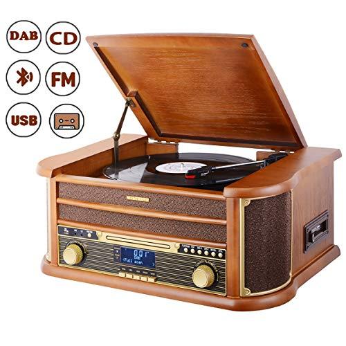 MUSITREND Tocadiscos (33 / 45 / 78 RPM) estéreo de 3