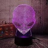 3D Emoji Extranjero Lámpara Mesa Escritorio Luz nocturna 7 Cambio de color USB Decoración LED Linterna inalámbrica Ambiente Bombilla Creativa