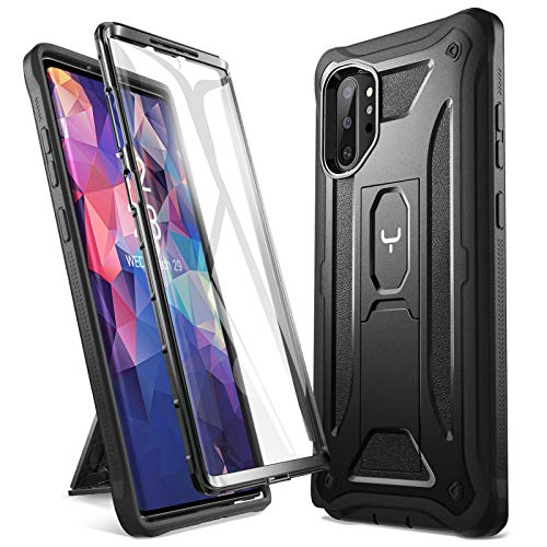 YOUMAKER Kickstand Designed for Samsung Galaxy Note 10 Plus Case, Built-in Screen Protector Work with Fingerprint ID Full Body Heavy Duty Shockproof Cover for Galaxy Note 10 Plus 5G 6.8 Inch - Black Louisiana