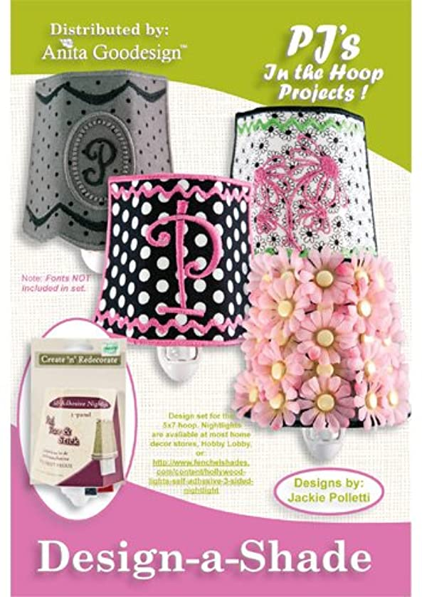 Anita Goodesign Embroidery Designs CD PJ's In the Hoop Design-A-Shade