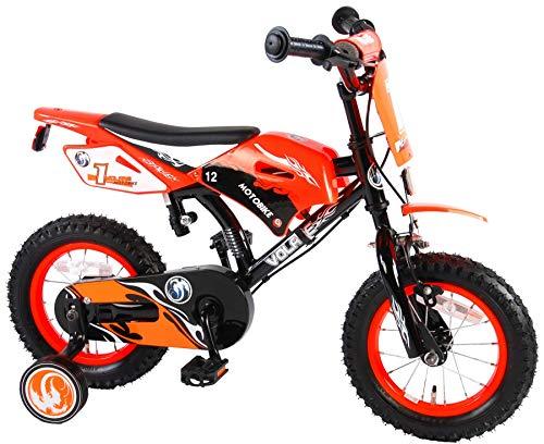 Volare Motorbike Kinderfiets - Jongens - 12 inch - Oranje - twee handremmen