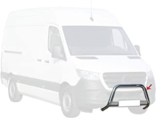 OMAC Auto Accessories Bull Bar | Protetor de para-choque dianteiro de aço inoxidável | Protetor de grelha prata serve para...