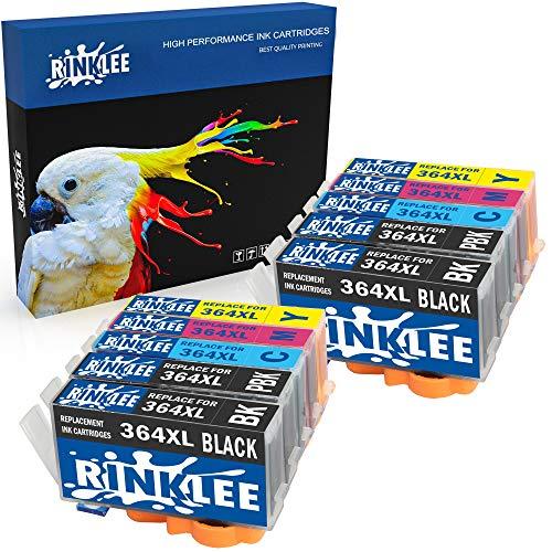 RINKLEE 10 Compatibles 364XL 364 XL Alta Capacidad Cartuchos de Tinta Reemplazo para HP Photosmart 7520 7510 C6380 C5380 C510a C309a C310a D5460
