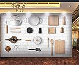 Fototapete Tapeten 3D Küchenbedarf Tapete Fototapeten Vlies Wandtapete moderne Wandbild Wand Schlafzimmer Wohnzimmer 300x210 cm