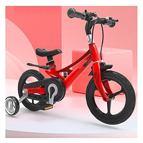TOOSD Bicicleta para Niños De 12'14' 16'para Niñas Y Niños De 3 A 9 Años, Bicicleta para Niños con Ruedas De Entrenamiento Y Frenos De Mano, Bicicleta De Entrenamiento para Niños,A,12