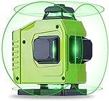 La línea Cruzada láser Verde 4d Nivel láser, 360 del Nivel de Alcohol Set 16 líneas de nivelación láser de 360 Grados;Verde/Azul Claro 4X 360 Cross Line autonivelante, ANGANG