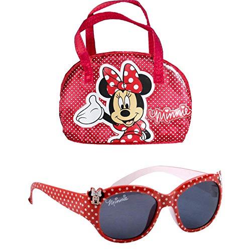 Disney Minnie Mouse Kinder Charakter Sonnenbrille & Etui Set – 100% UV-Schutz für Urlaub