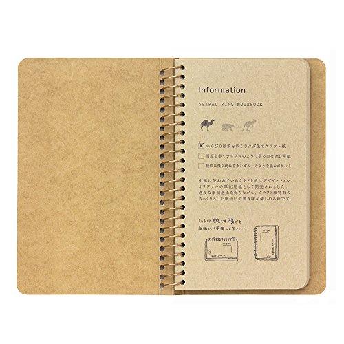 Green spiral ring notebook <A6surimu> Mukei desert camel pattern (japan import) Photo #5