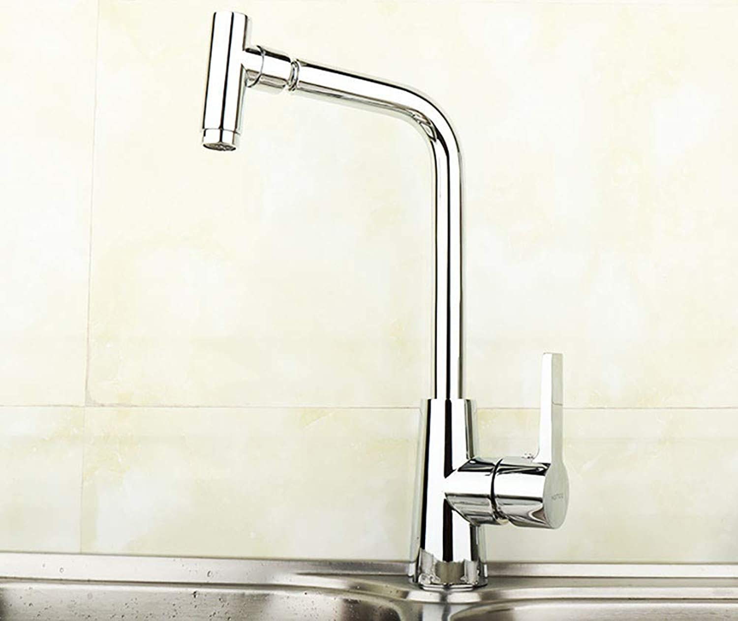 MMING HOME Kitchen hot and cold water faucet 360 degree swivel single hole vegetable basin faucet