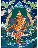 中国の巻物アート チベットチベット仏教タンカリビングルームポーチぶら下げ絵画タンカホームアンドレジデンス装飾的な絵画 家の装飾のために掛ける準備ができている風水絵画 (Color : A, Size : 40x51cm No Frame)