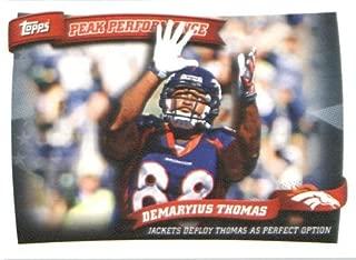 2010 Topps Peak Performance Football Rookie Card #PP24 Demaryius Thomas