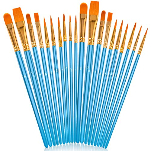 Soucolor Acrylic Paint Brushes Set, 20Pcs Round...
