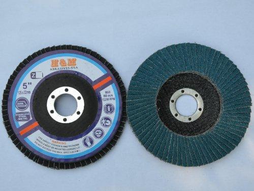 "10pcs Premium FLAP DISCS 5"" x 7/8"" Zirconia 80 grit Grinding Wheel grinder tool"