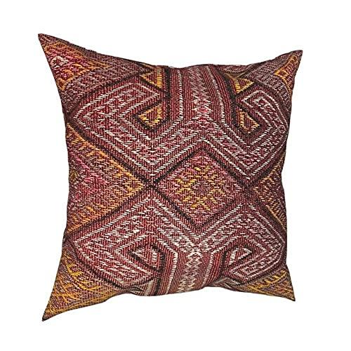 Funda de cojín decorativa vintage turco, tejido de poliéster, para sofá, divertido, 6,50 x 50 cm