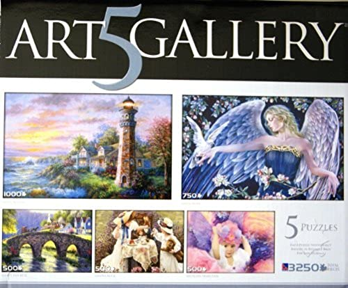 ART GALLERY 5 PUZZLES BOX SET by NICKEY BOEHME, SHEILA WOLK, RANDY VAN BEEK, SANDRA KUCK, & KATHLEEN FRANCOUR (1000, 750, 500, 500 and 500 Pieces) by ART5GALLERY