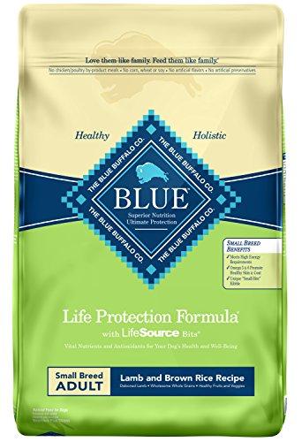 Blue Buffalo Life Protection Formula Small Breed Dog Food , Natural Dry Dog Food for Adult Dogs , Lamb and Brown Rice , 15 lb. Bag