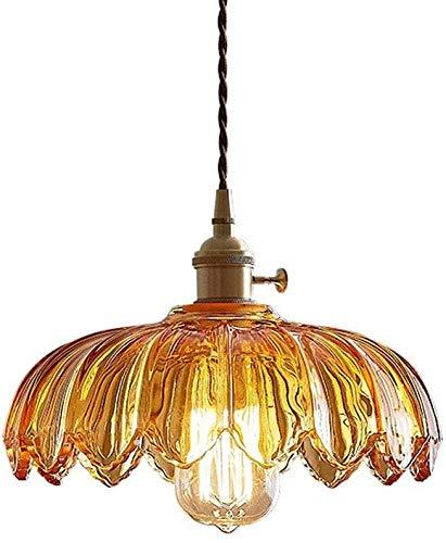 Lámparas de pared E27 Luz colgante de vidrio Loft, luz colgante colgante de 1 luz para la cocina, restaurante Dormitorio colgante iluminación de la iluminación de la nostalgia, longitud ajustable E27