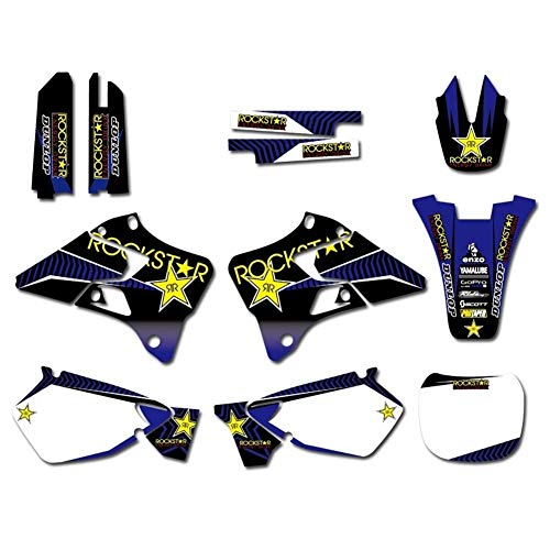 Motocross modifizierter Aufkleber Grafik-Hintergrund-Aufkleber Aufkleber for Yamaha YZ125 YZ250 YZ 125 250 1996 1997 1998 1999 2000 2001 Dirt Bike Aufkleber (Color : Sticker 2)