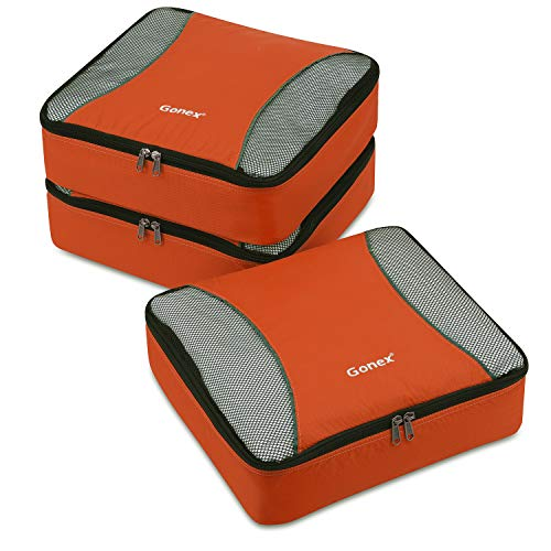 Gonex Mittelgroße Kleidertaschen, 3 Stück, orange