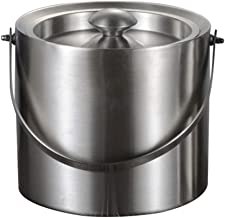 SBWFH Ice Bucket Stainless Steel Insulation Ice Bucket with Lid Handle for Wine Champagne Bar