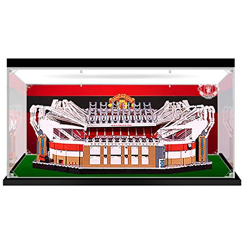 Vitrina de Acrílico para Lego 10272 Old Trafford - Manchester United, Display Case Vitrinas para Colecciones Modelismo (Solo Vitrina)