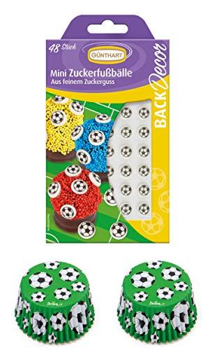 Fußball Back-Set | Zuckerdekor Fußbälle | Muffinförmchen | Fußball Muffins