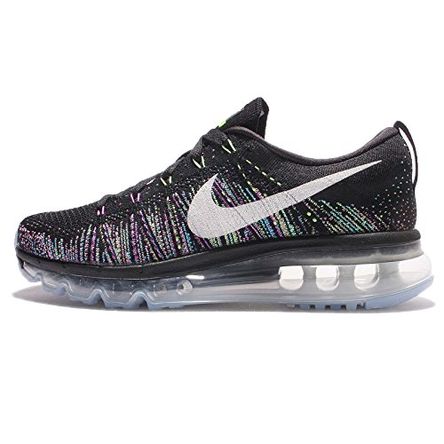 NIKE Women's Wmns Flyknit Max, Black/Summit White-Ghost Green, 10.5 M US