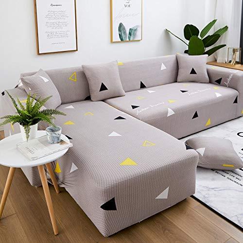 WXQY Funda de sofá de Sala de Estar en Forma de L Funda de sofá sofá seccional elástica Funda de sofá antiincrustante Todo Incluido A22 1 Plaza