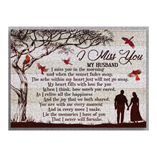 Rompecabezas de 1000 piezas I Miss You My Husband Lie The Memories I Have Of You, rompecabezas para niños, adultos, decoración del hogar, juguetes divertidos, regalos de cumpleaños