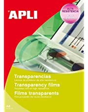 APLI 1216-Transparencias banda superior para inkjet 20 hojas