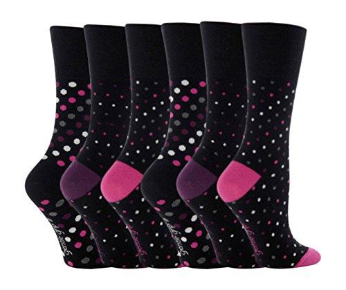Gentle Grip 12 Paar Damen SockShop Baumwolle Socken Schuhgröße UK 4-8 EUR 37-42 Mehr punkt streifen RH07