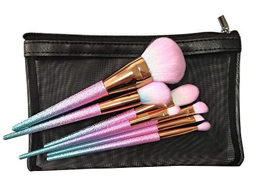 7pcs professionnel Fantasy Make Up Brush Set Blending Blush Concealer Ombre À Paupières Crème Cosmétiques Brosses En Cuir Sac Brosse à maquillage XXYHYQ