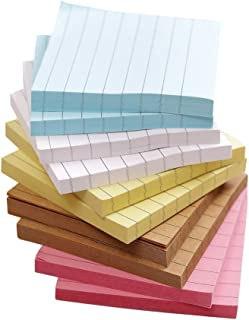 Colorful Sticky Notes,Self Sticky Notes,Lined,10 Pads/Pack, 3x3inch 70 Sheets/Pad, 5 Colors