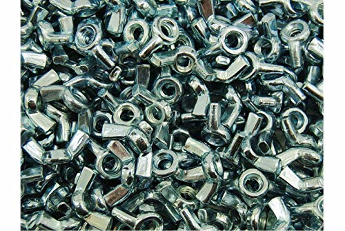 60 Pack 1//4 Wing Nuts Zinc Plated Fasteners Parts 1//4-20 Inches Butterfly Nut