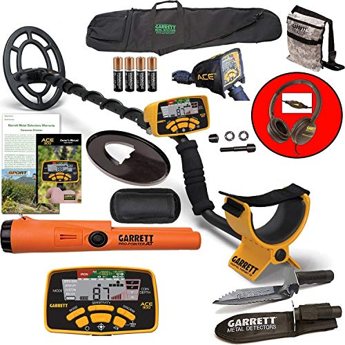 Fantastic Prices! Garrett ACE 300 Metal Detector with Waterproof Coil ProPointer at and More