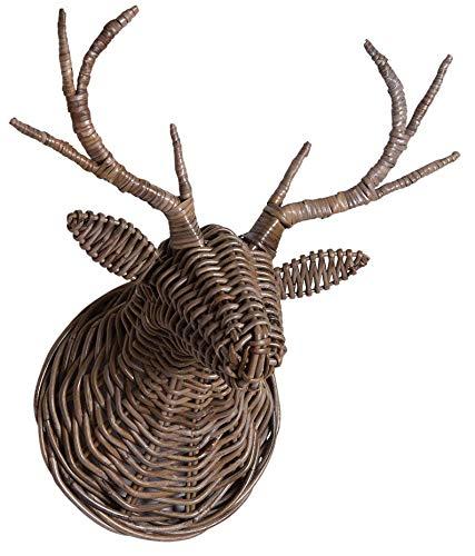 AubryGaspard Trophée tête de cerf en poelet Gris