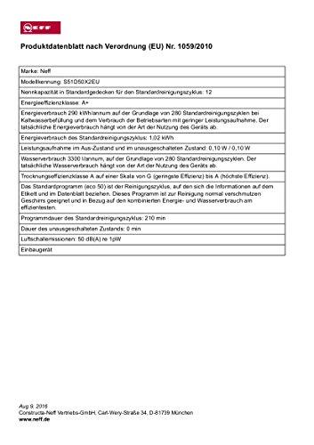 Neff GV 150 Geschirrspüler Vollintegriert - 3
