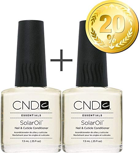 CND Shellac Vernis à ongles UV/LED Power Polish, huile solaire – 7,3 ml – Lot de 2