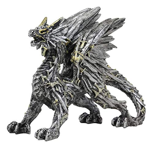 Ebros Legend of The Swords Valyrian Blades Roaring Dragon Statue 8' Long Dungeons and Dragons Fantasy Medieval Renaissance Decorative Figurine