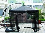 Dajar Moskitoschutz für Sonnenschirm Ampel Deluxe 3,5 m, grau