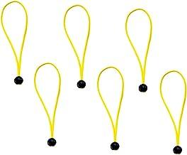 Fityle 6-delige set met elastische koorden voor tochtstopper, 13,7 cm, voor tochtstoppers.