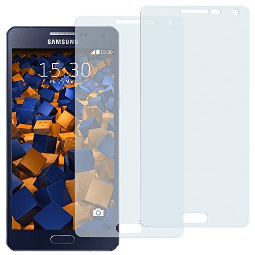 mumbi Schutzfolie kompatibel mit Samsung Galaxy A5 2015 Folie klar, Displayschutzfolie (2X)